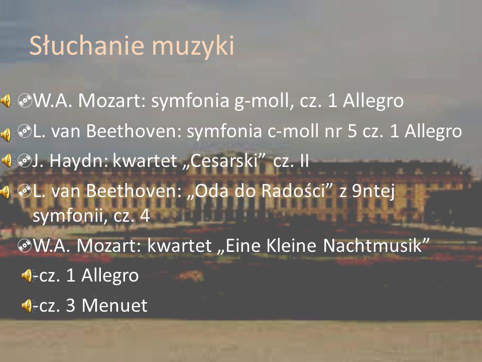 Słuchanie muzyki W.A. Mozart: symfonia g-moll, cz. 1 Allegro