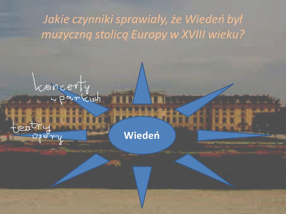 Jakie czynniki sprawiały, że Wiedeń był muzyczną stolicą Europy w XVIII wieku
