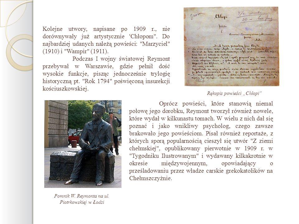 Kolejne utwory, napisane po 1909 r