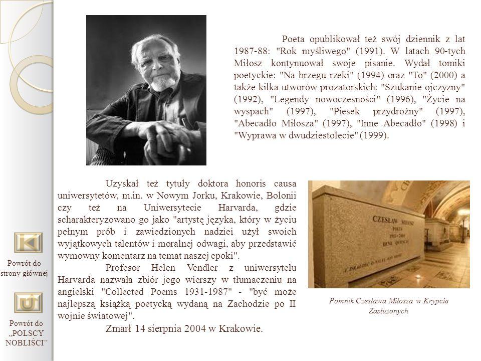 Zmarł 14 sierpnia 2004 w Krakowie.