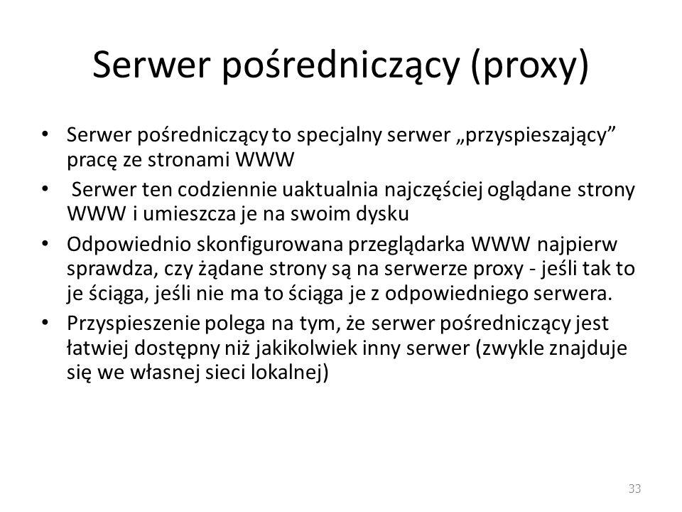 Serwer pośredniczący (proxy)