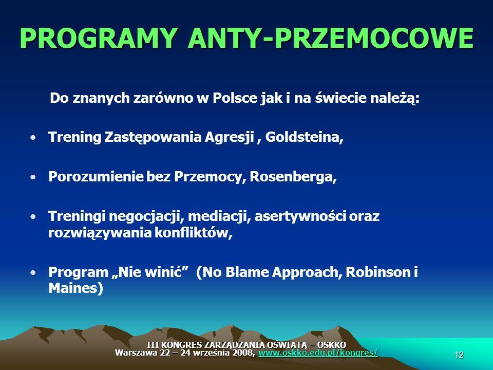PROGRAMY ANTY-PRZEMOCOWE