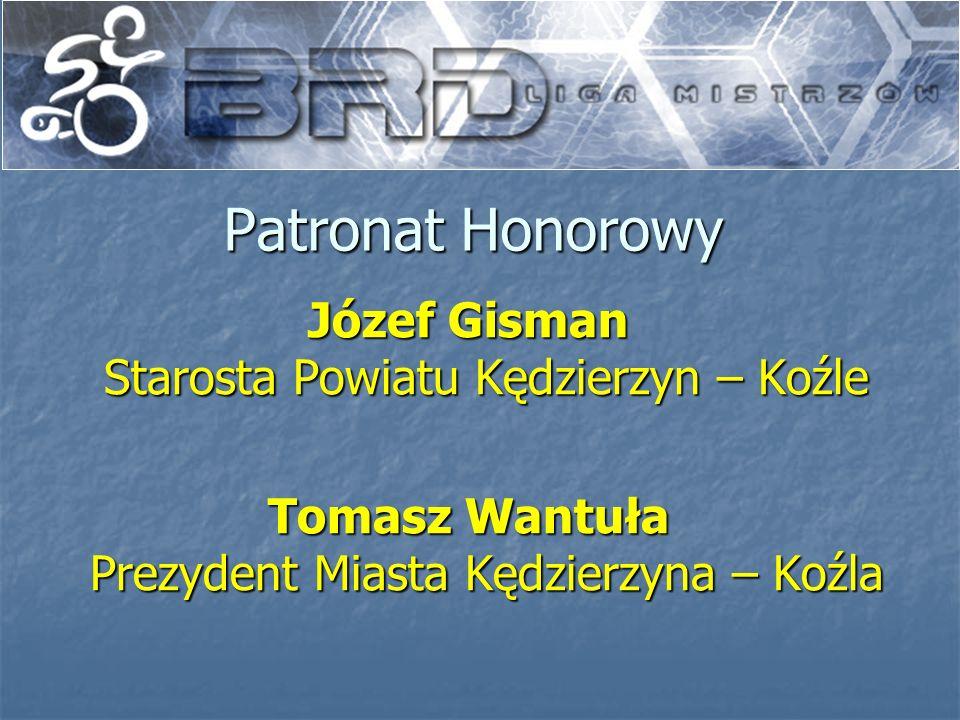 Patronat Honorowy Józef Gisman Starosta Powiatu Kędzierzyn – Koźle Tomasz Wantuła Prezydent Miasta Kędzierzyna – Koźla