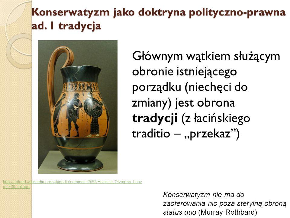 Konserwatyzm jako doktryna polityczno-prawna ad. 1 tradycja