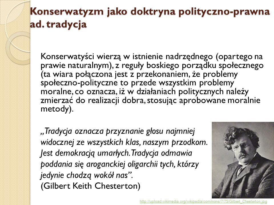 Konserwatyzm jako doktryna polityczno-prawna ad. tradycja