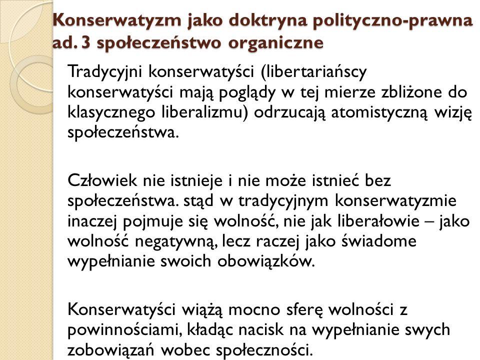 Konserwatyzm jako doktryna polityczno-prawna ad