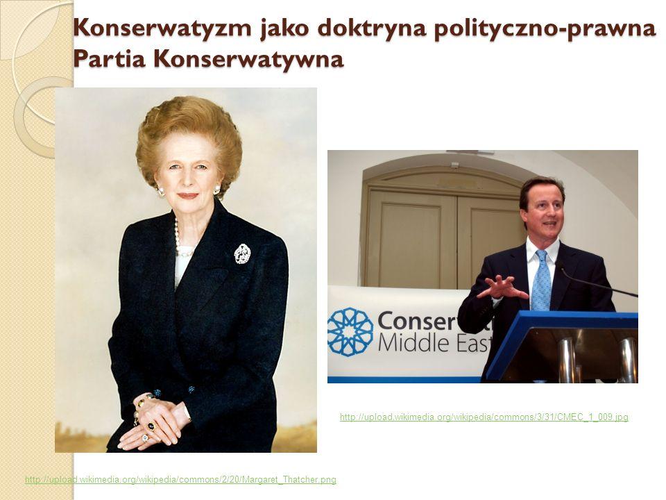 Konserwatyzm jako doktryna polityczno-prawna Partia Konserwatywna