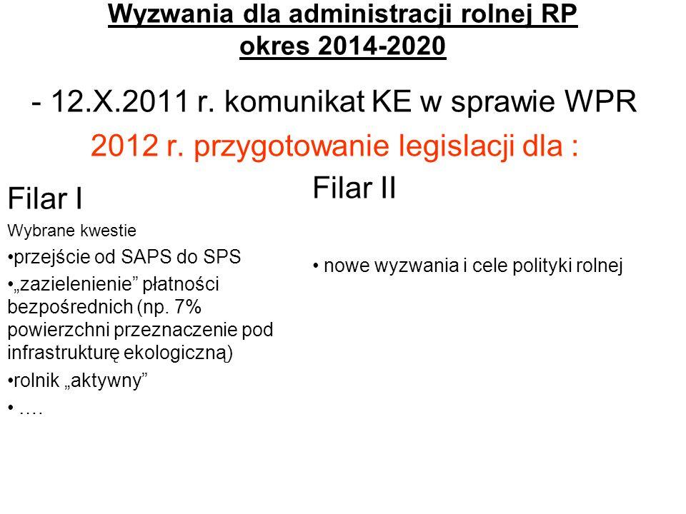 Wyzwania dla administracji rolnej RP okres 2014-2020