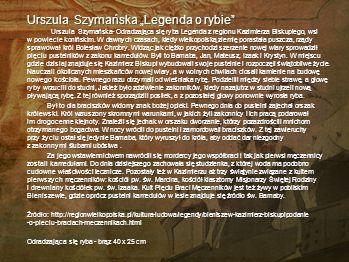 """Urszula Szymańska """"Legenda o rybie"""
