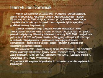 Henryk Jan Dominiak www.henrykjandominiak.eu