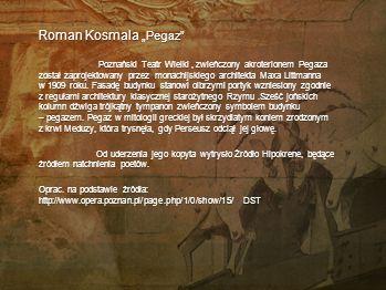"""Roman Kosmala """"Pegaz"""