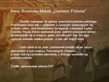 "Irena Rosińska-Melnik ""Genesis Polonia"