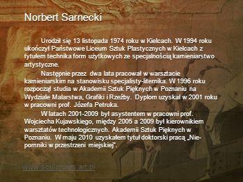 Norbert Sarnecki www.sculptures.art.pl