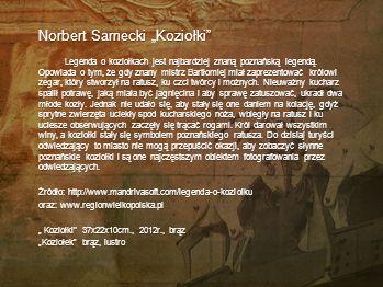 "Norbert Sarnecki ""Koziołki"