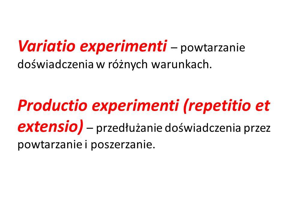 Variatio experimenti – powtarzanie doświadczenia w różnych warunkach