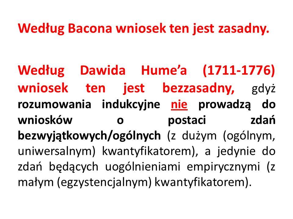 Według Bacona wniosek ten jest zasadny