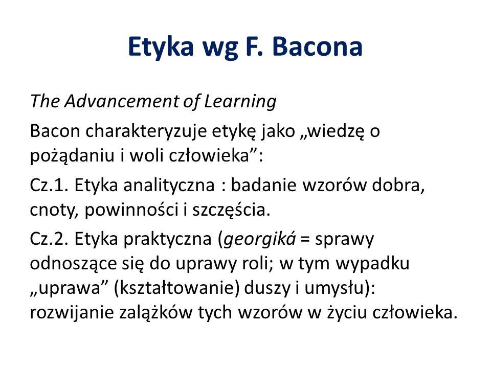 Etyka wg F. Bacona
