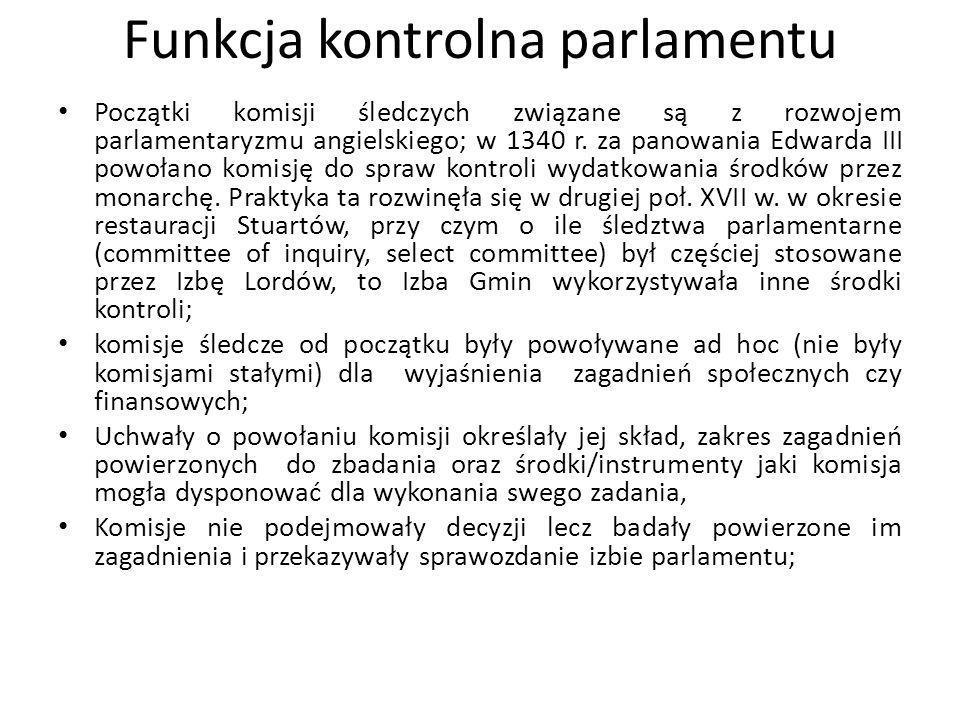 Funkcja kontrolna parlamentu