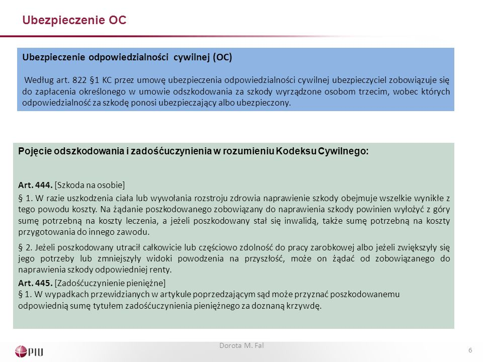 Ubezpieczenie OC Ubezpieczenie odpowiedzialności cywilnej (OC)