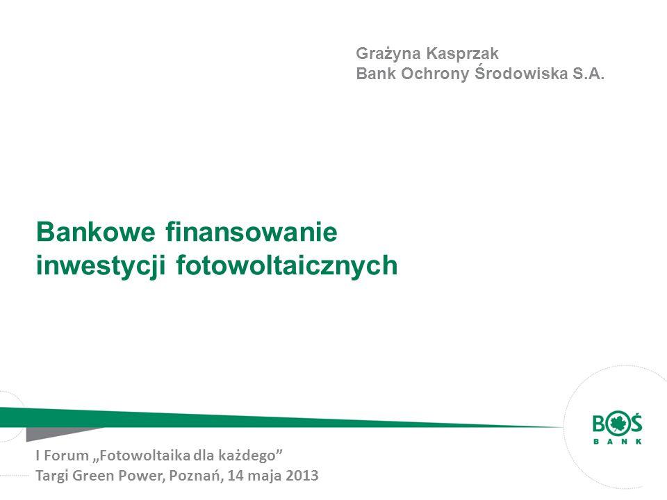 Bankowe finansowanie inwestycji fotowoltaicznych