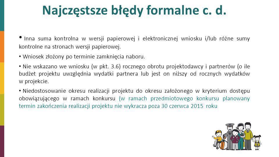 Najczęstsze błędy formalne c. d.