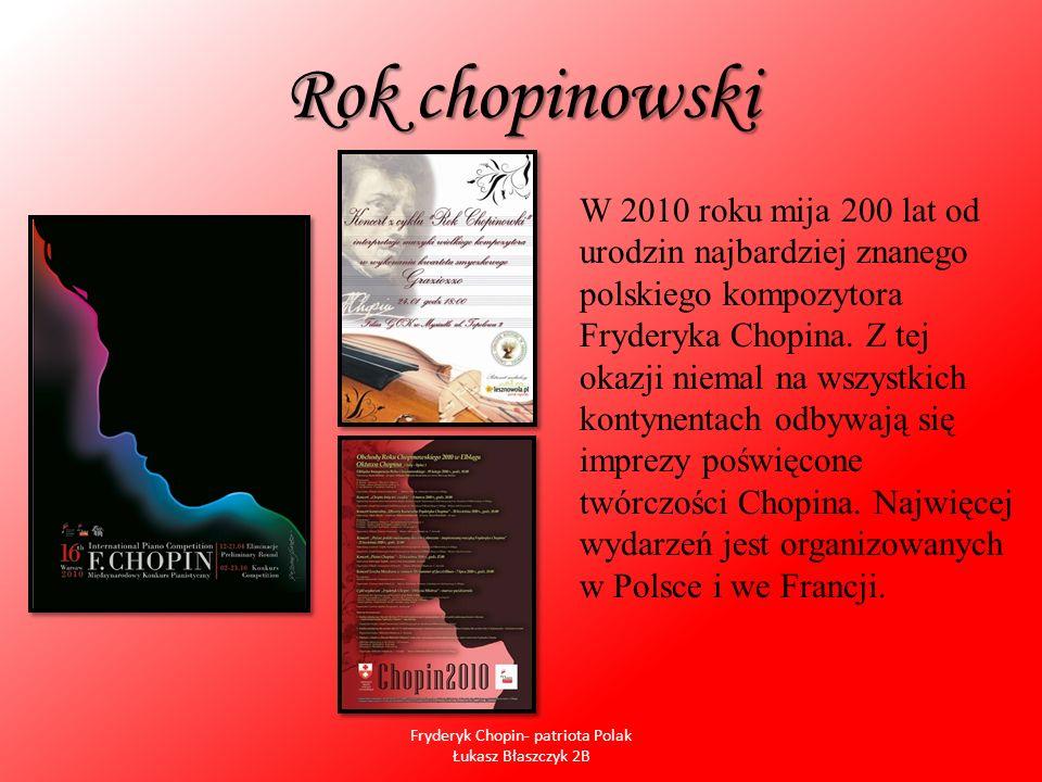 Fryderyk Chopin- patriota Polak Łukasz Błaszczyk 2B