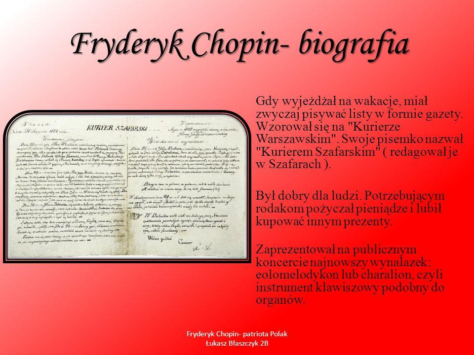 Fryderyk Chopin- biografia