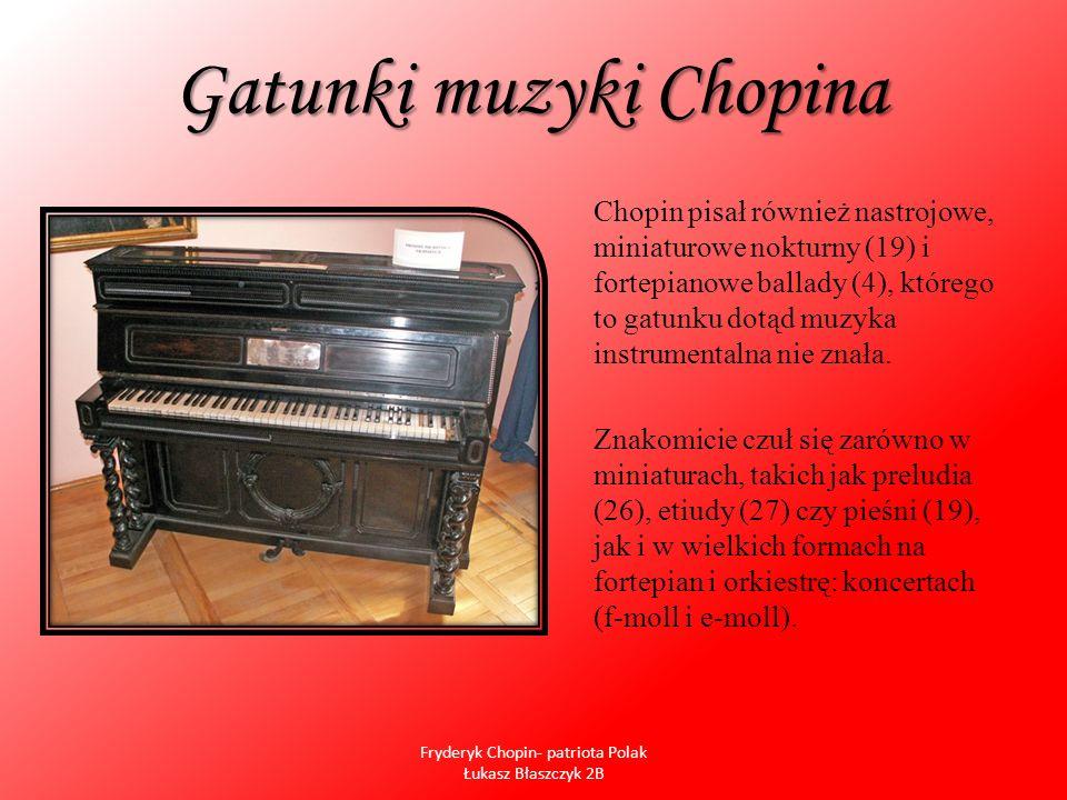 Gatunki muzyki Chopina
