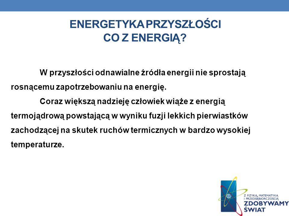 Energetyka przyszłości Co z energią