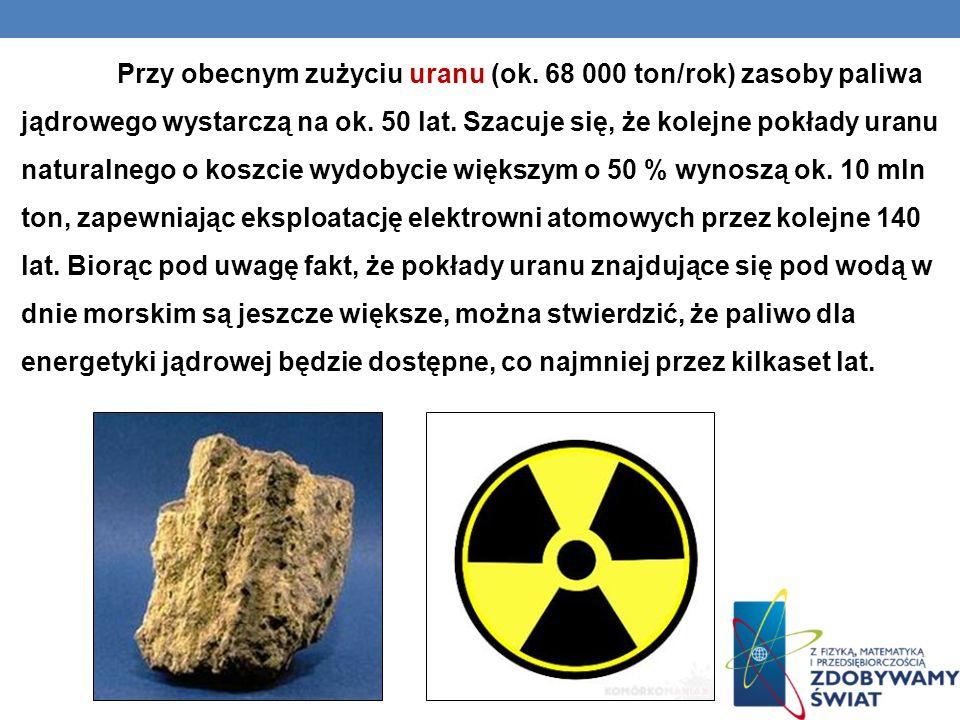 Przy obecnym zużyciu uranu (ok