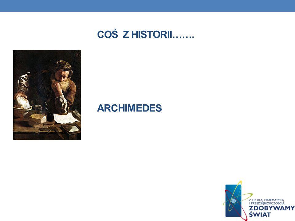 COŚ Z HISTORII……. Archimedes