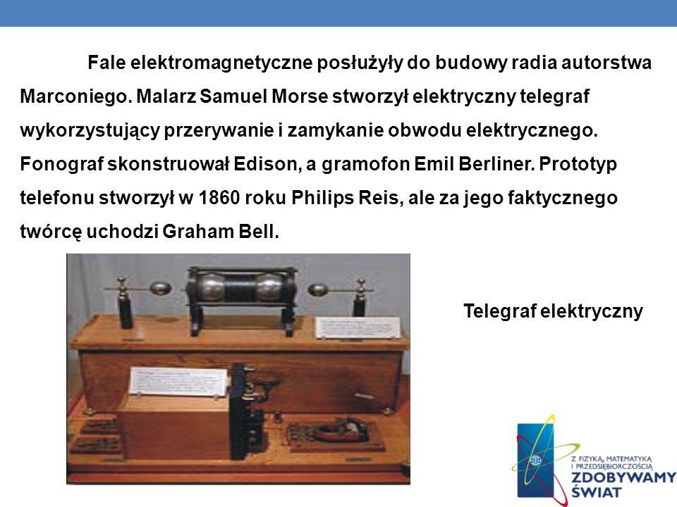 Fale elektromagnetyczne posłużyły do budowy radia autorstwa Marconiego