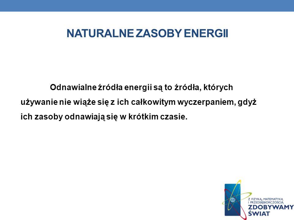 Naturalne zasoby energii
