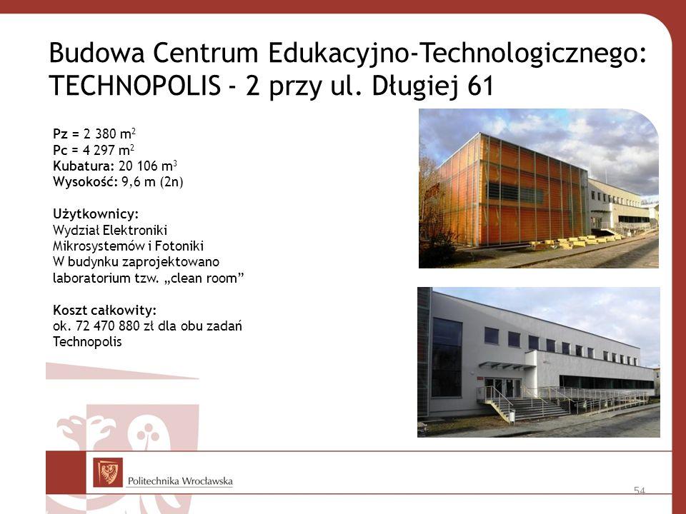 Budowa Centrum Edukacyjno-Technologicznego: TECHNOPOLIS - 2 przy ul