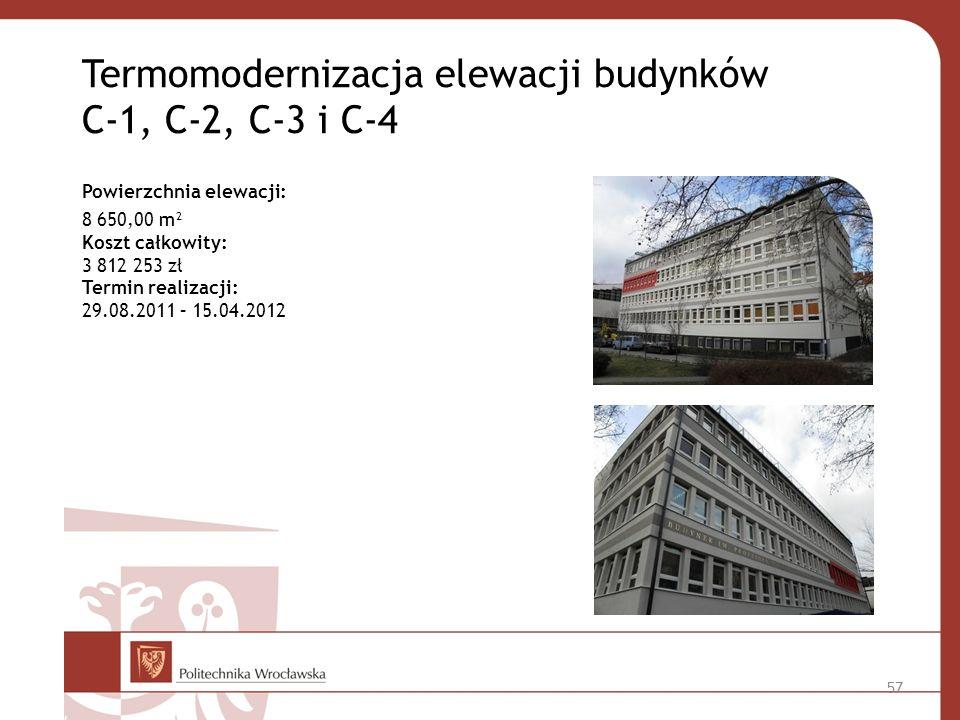 Termomodernizacja elewacji budynków C-1, C-2, C-3 i C-4