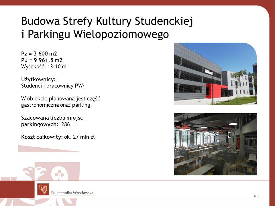 Budowa Strefy Kultury Studenckiej i Parkingu Wielopoziomowego
