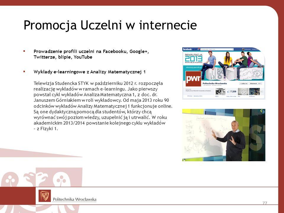 Promocja Uczelni w internecie