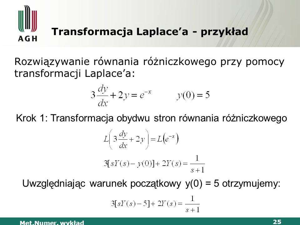Transformacja Laplace'a - przykład