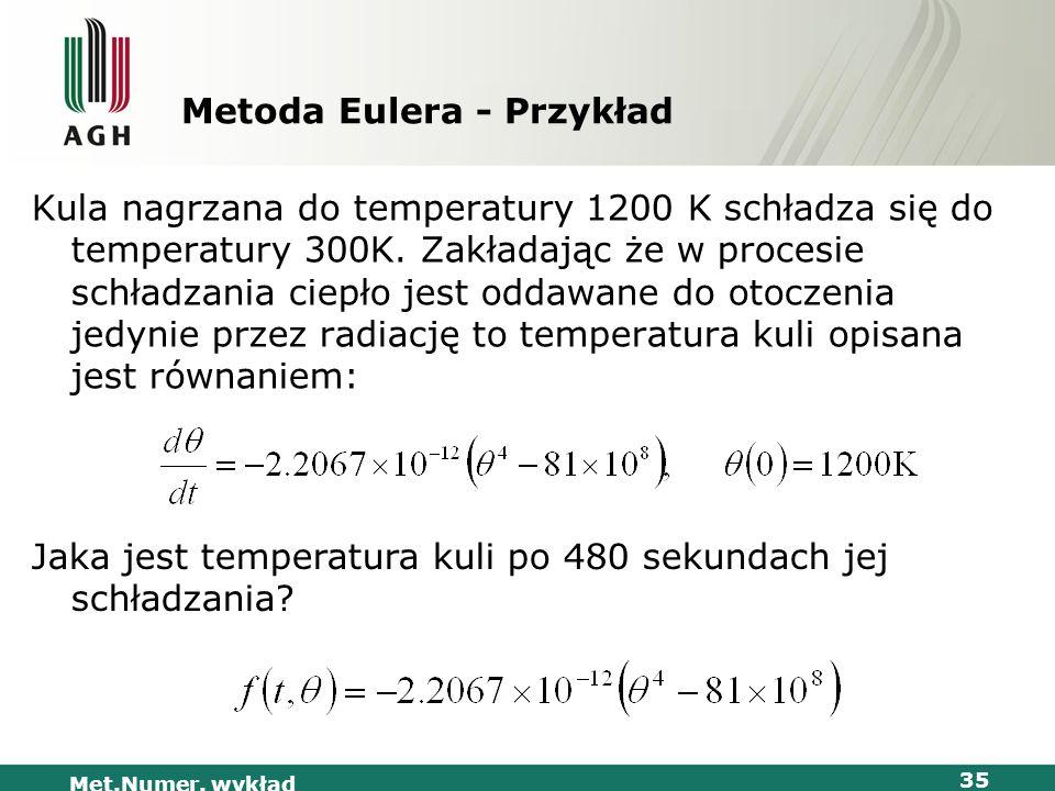 Metoda Eulera - Przykład