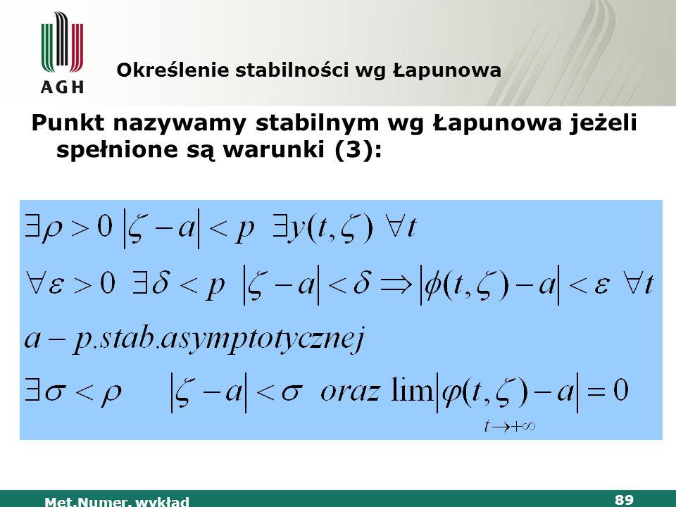 Określenie stabilności wg Łapunowa