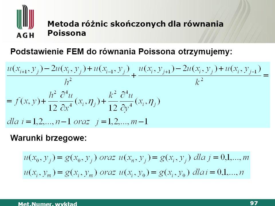 Metoda różnic skończonych dla równania Poissona