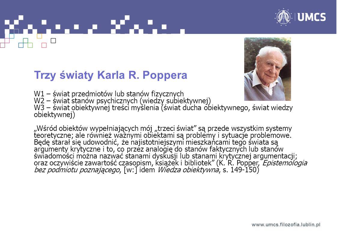 Trzy światy Karla R. Poppera