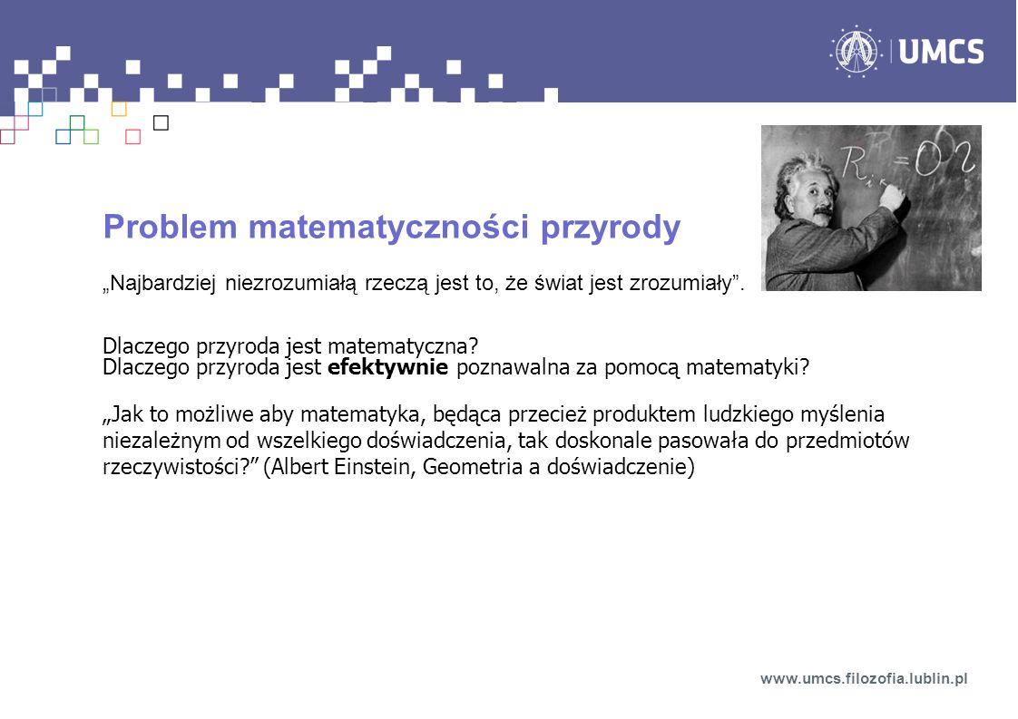 Problem matematyczności przyrody
