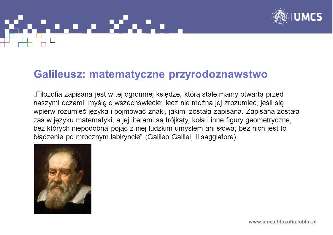 Galileusz: matematyczne przyrodoznawstwo