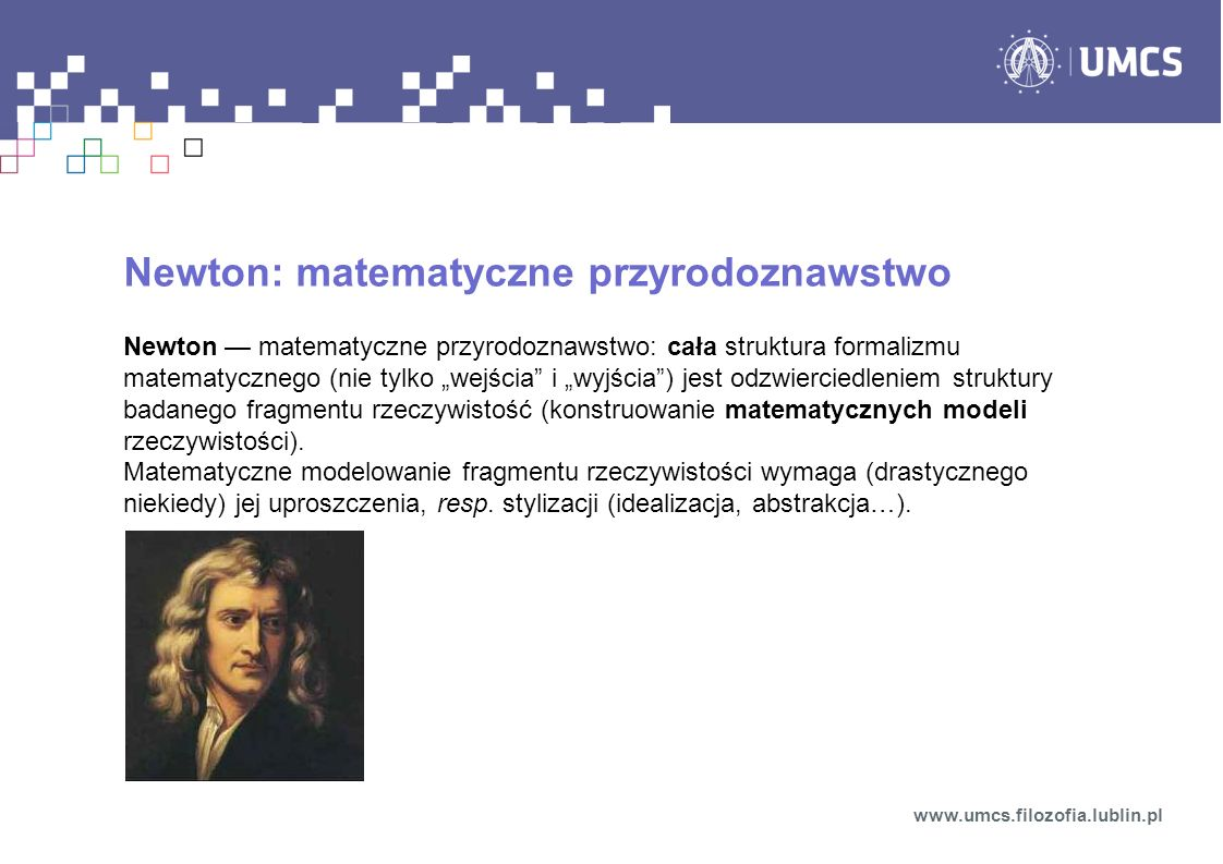 Newton: matematyczne przyrodoznawstwo