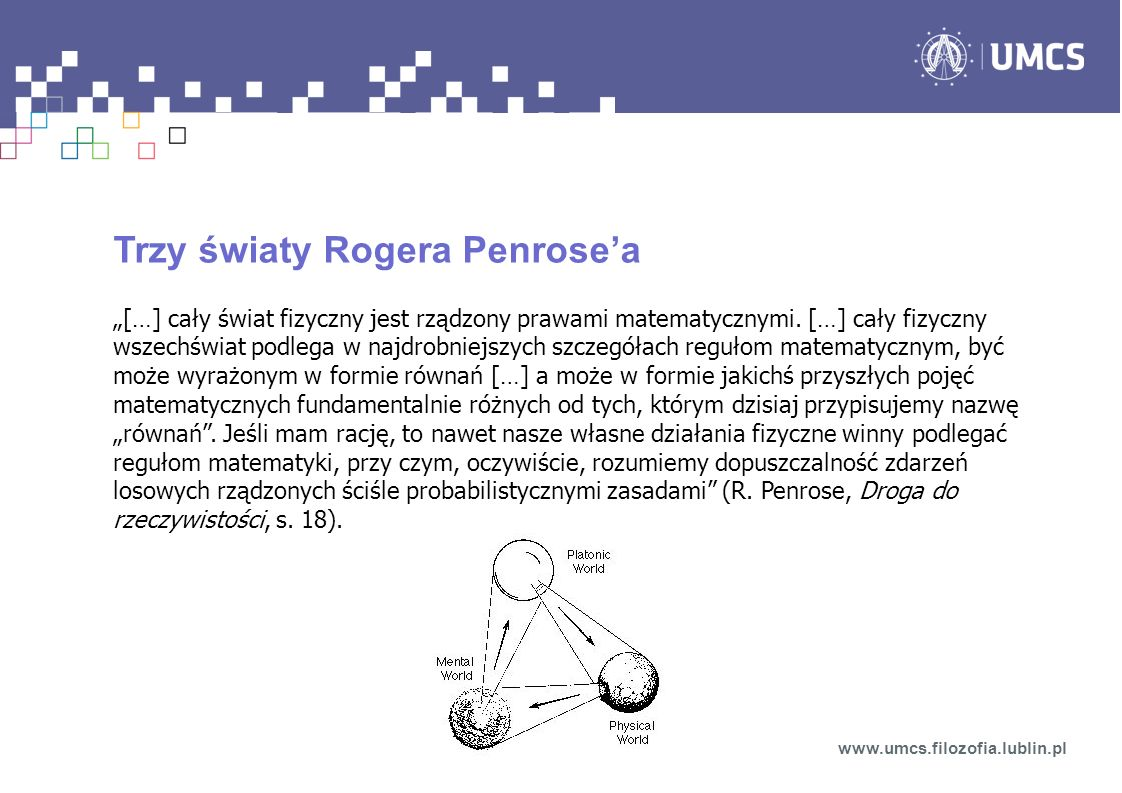 Trzy światy Rogera Penrose'a