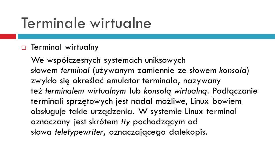 Terminale wirtualne Terminal wirtualny