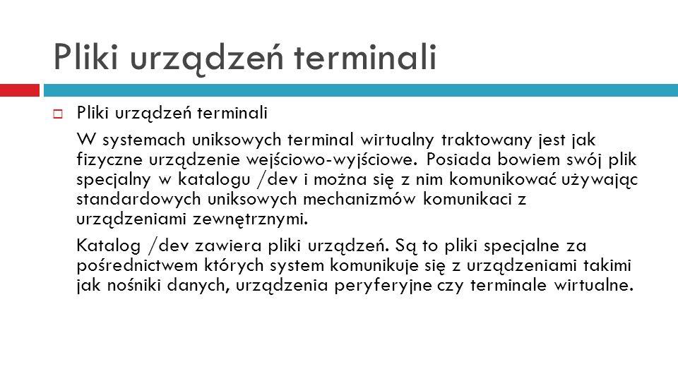 Pliki urządzeń terminali