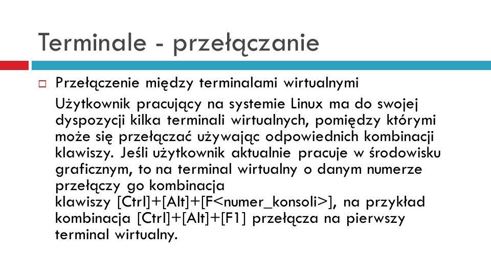 Terminale - przełączanie