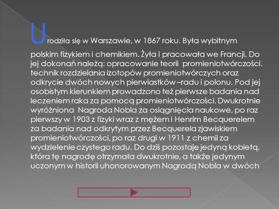 Urodziła się w Warszawie, w 1867 roku